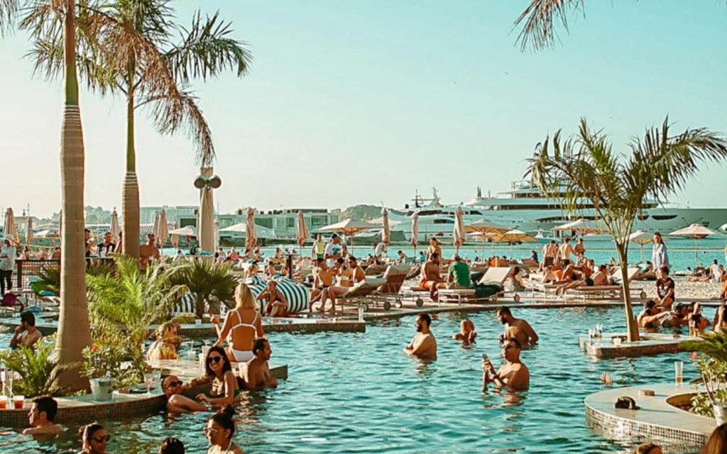 Barasti Beach summer pool in Dubai