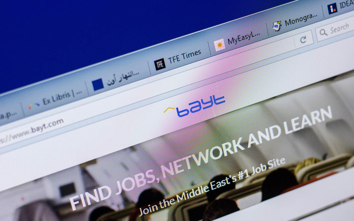 Bayt's website can be used t o find jobs in Dubai