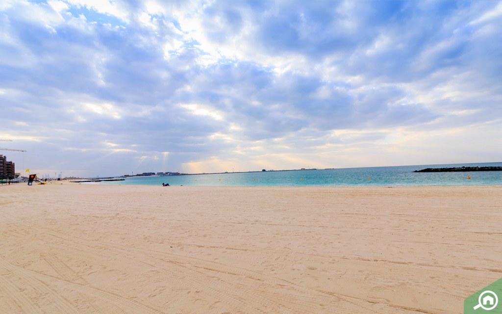 A beautiful beach in Jumeirah, Dubai.