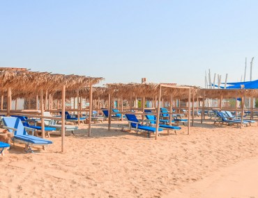 loungers at Banan Beach