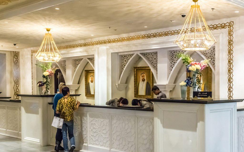 Hotel lobby in Dubai