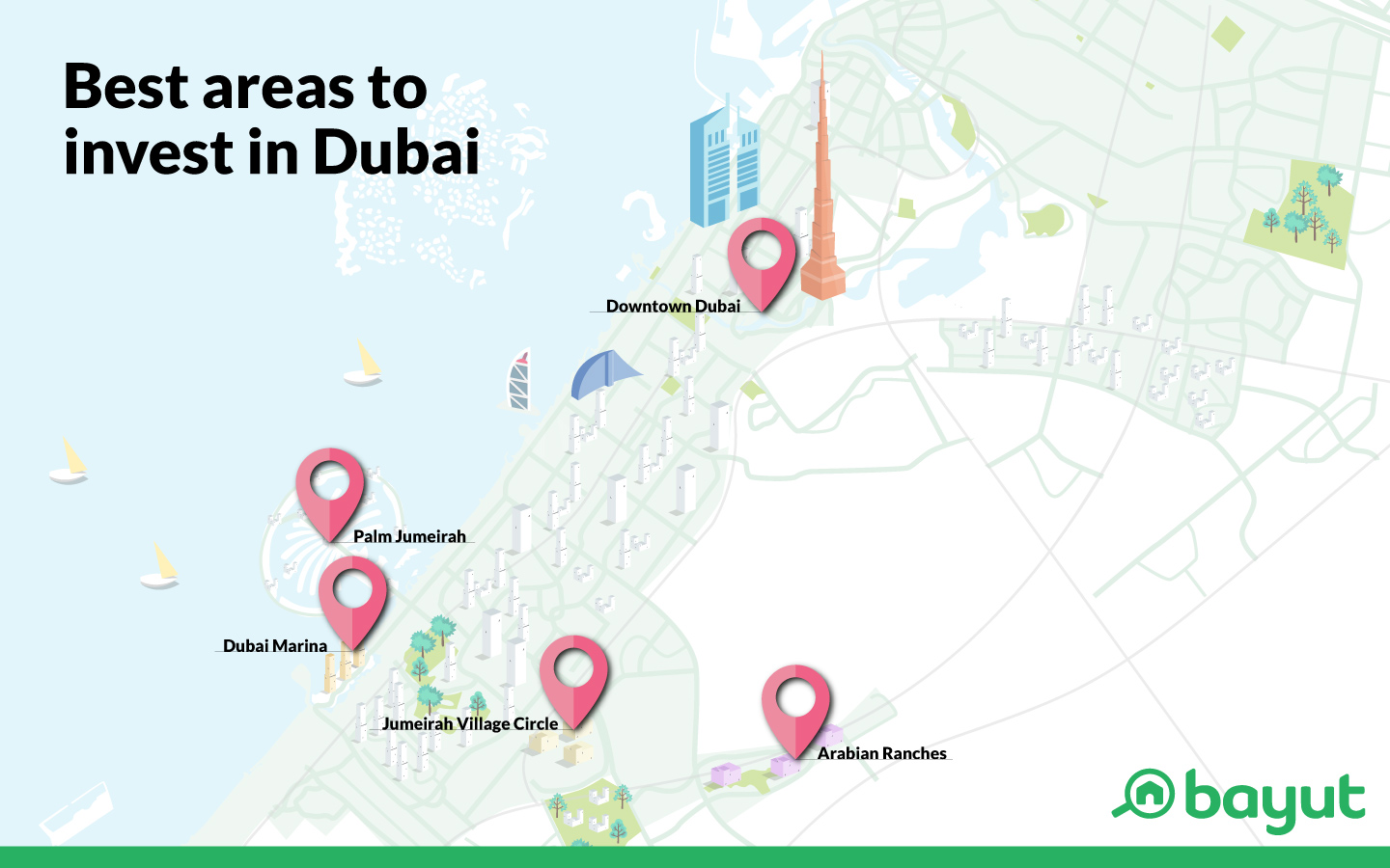 Dubai property investment map
