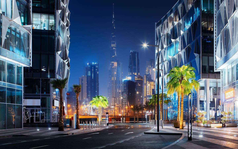 شارع في حي دبي للتصميم