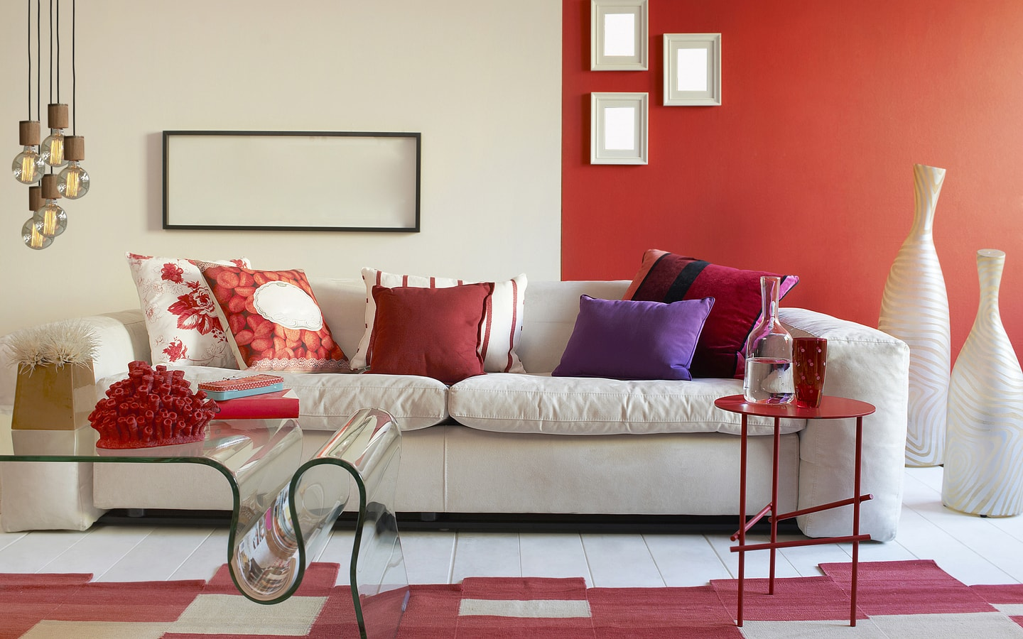living rooms with many colours