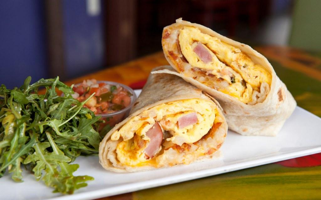 Burritos is a popular dish for breakfast in Dubai