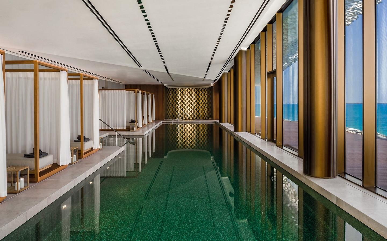 Swimming pool at Bulgari Hotel