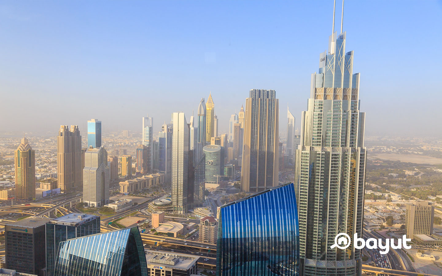 Dubai view from tallest building in the world