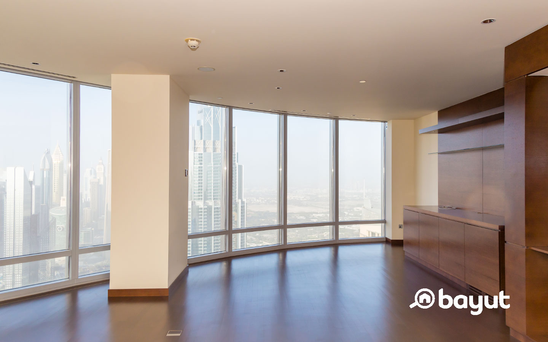 Living Room in Burj khalifa flat