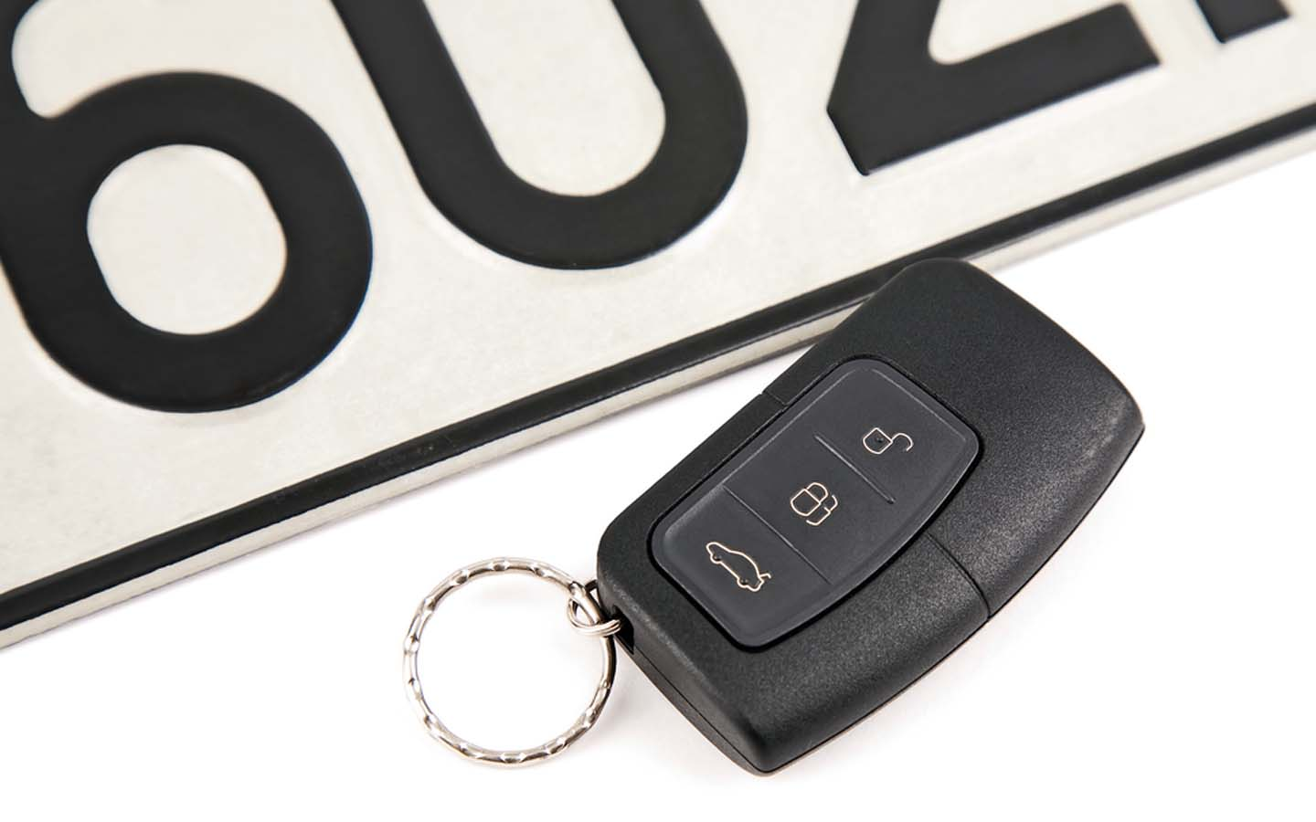 Car remote and plate