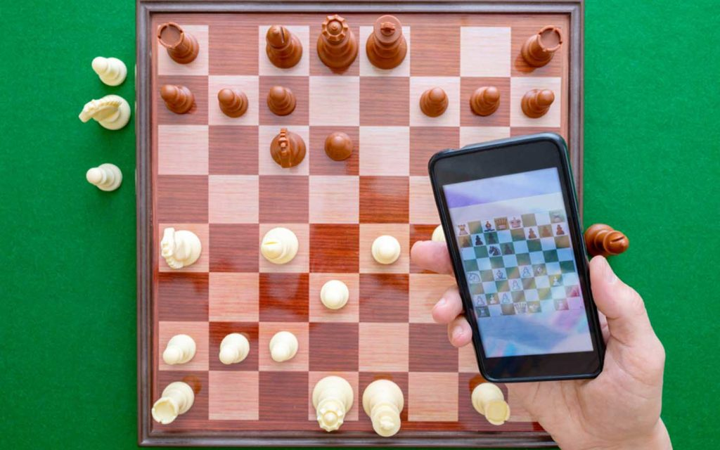 Chess game for the phone
