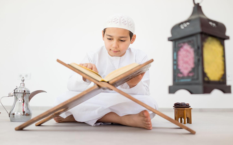 child reciting the Quran