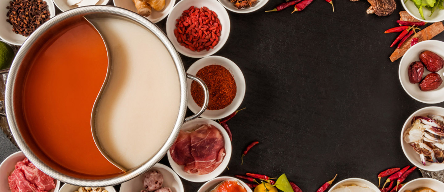 A fine spread of sauces, condiments in the Chinese hot pot restaurants in Dubai