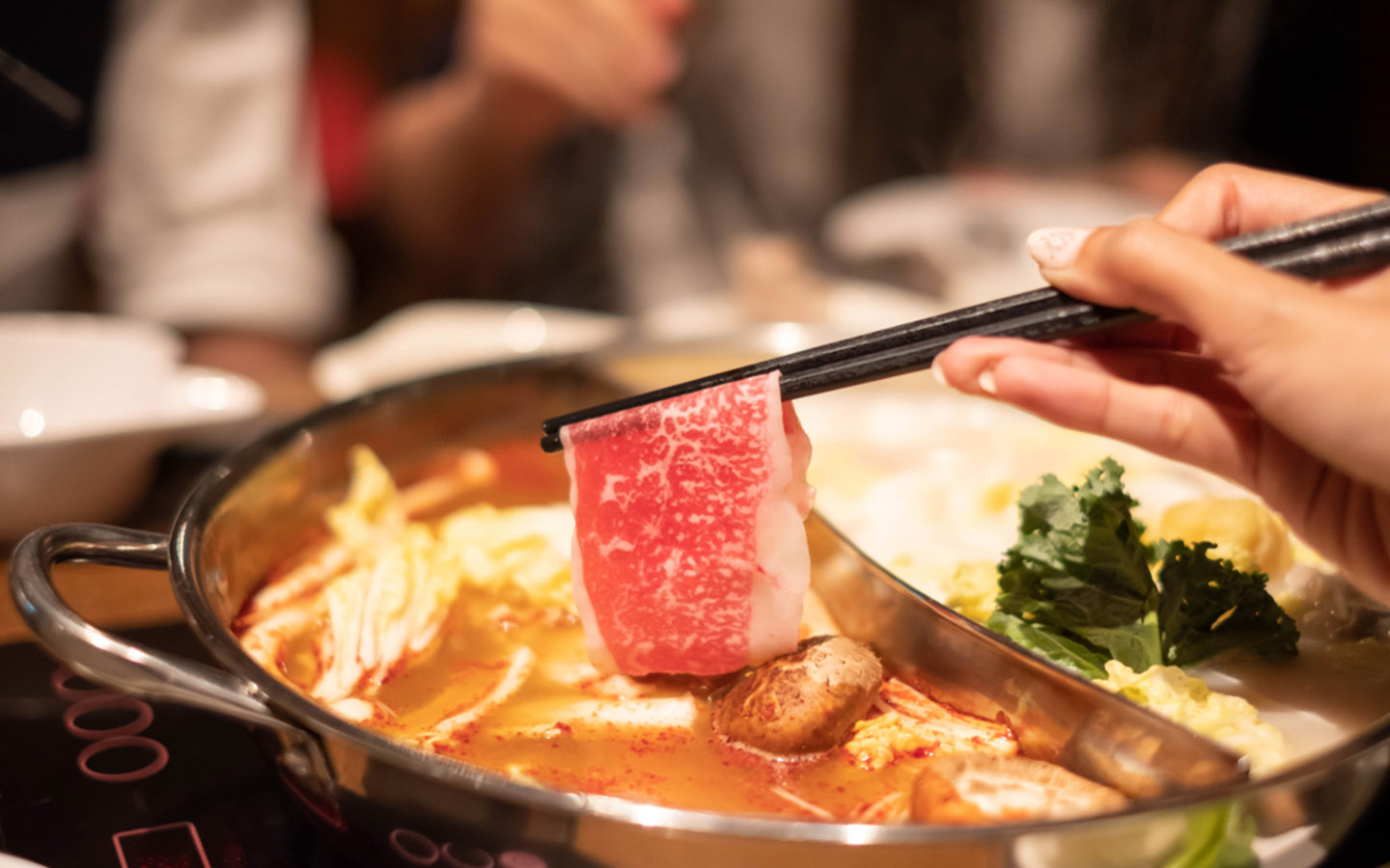 Hot pot made with beef
