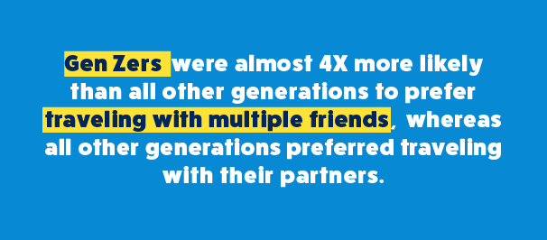 Generation Z Prefers to Travel With Friends