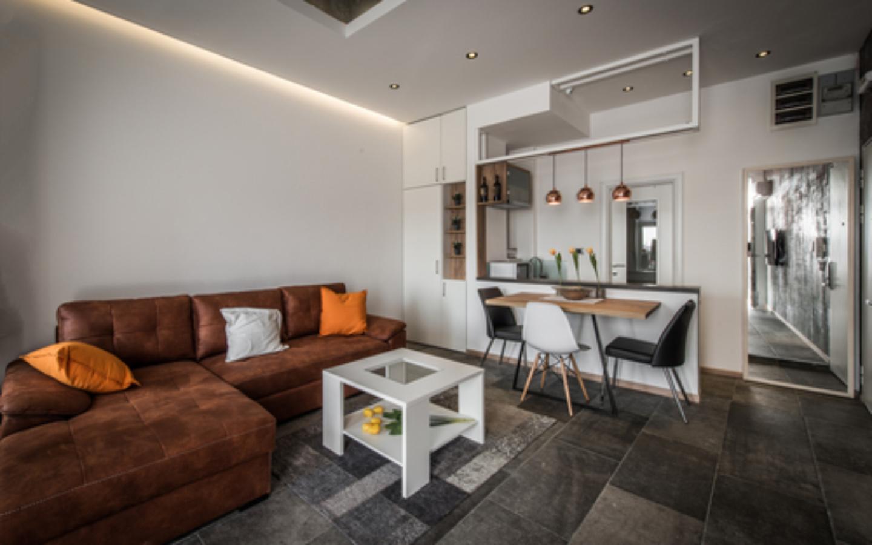 clean design in living room