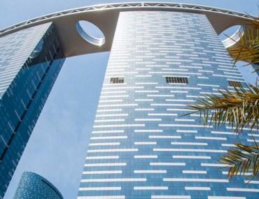 Name of Abu Dhabi International Airport is being displayed