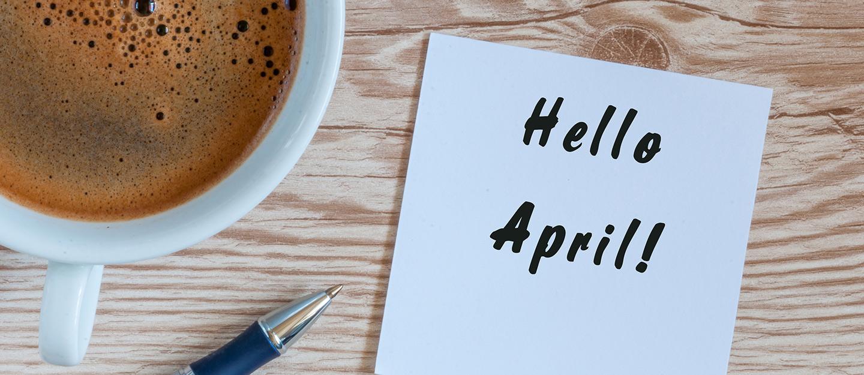 أجندة فعاليات شهر ابريل 2018