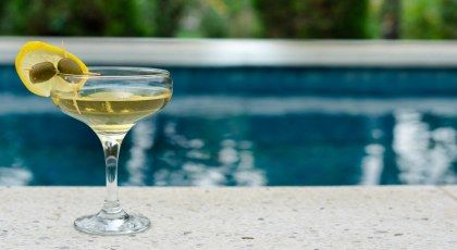 swimming pool with cocktail