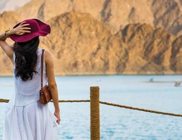 Woman at Hatta Dam