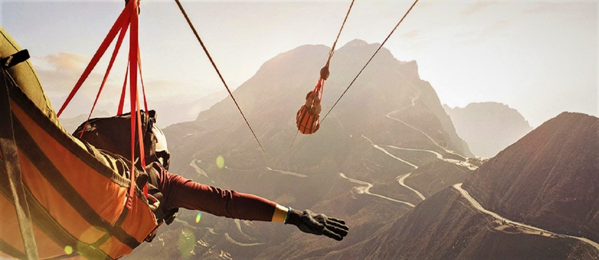 ziplines in RAK at Jebel Jais