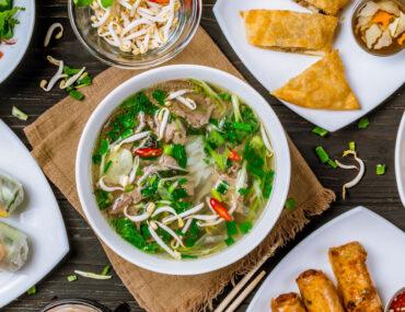 Assorted Vietnamese Food