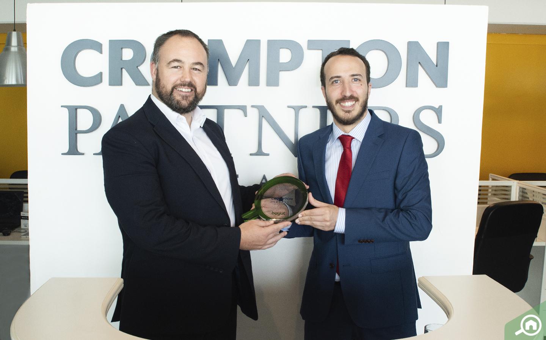 Ben Crompton, receiving the Award