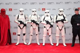 Men dressed up as Stormtroopers at Dubai International Film Festival 2016