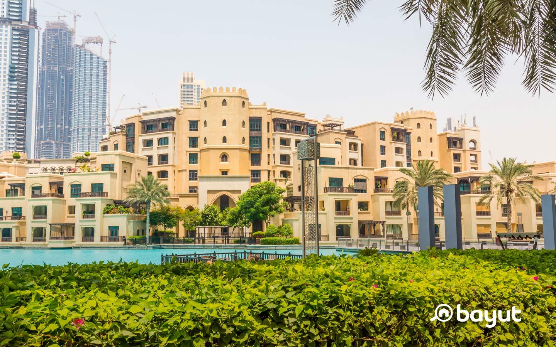 تتمتع حديقة البرج بمركز استراتيجي مميز بإطلالة رائعة على برج خليفة ونافورة دبي