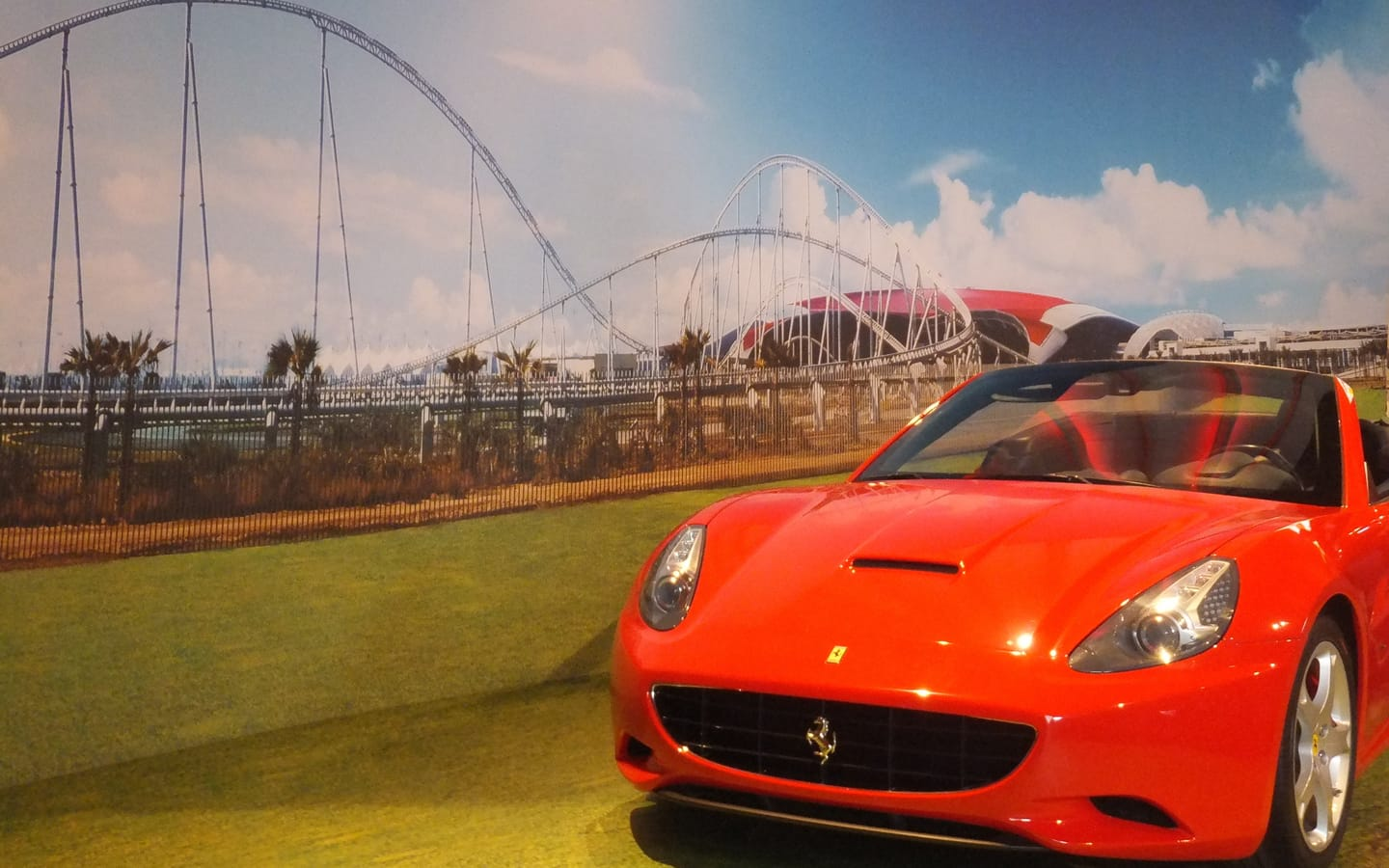 Driving experience in Ferrari world
