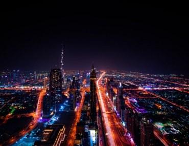 Apartment towers along Sheikh Zayed Road Dubai