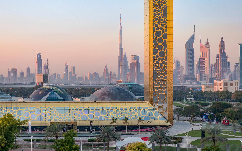 Dubai Frame in Zabeel Park has gorgeous views of Burj Khalifa