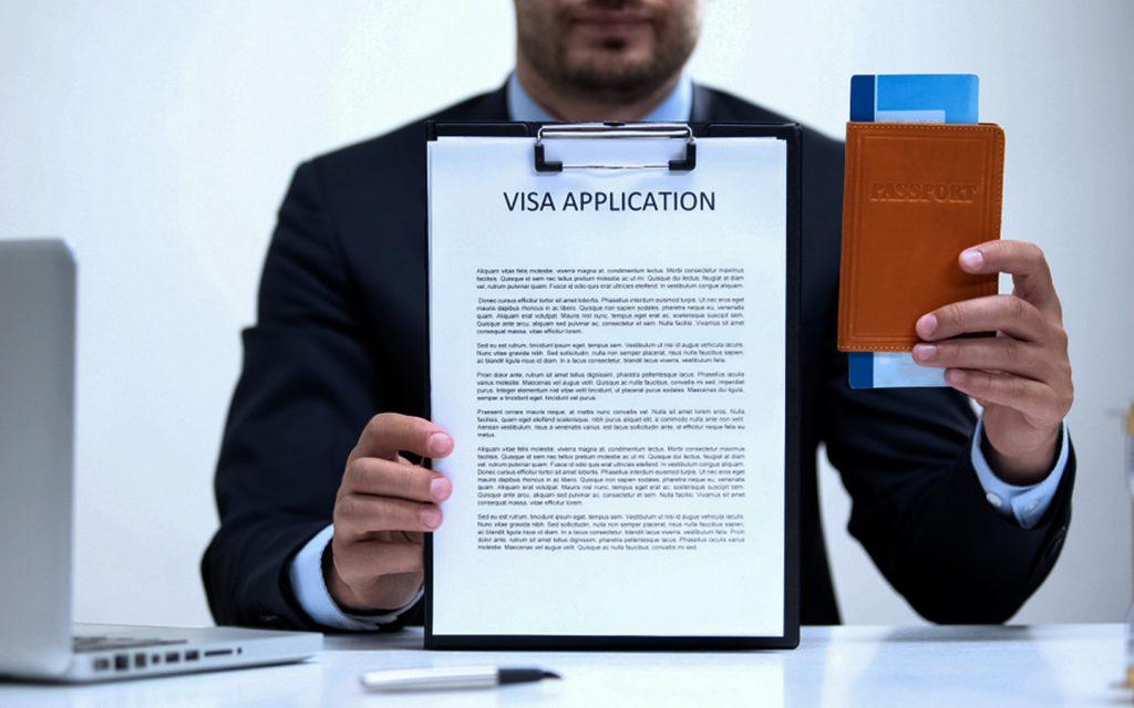 Visa application at embassy
