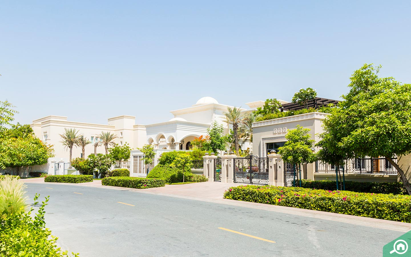 Community of Emirates Hills, which has freehold villas in Dubai