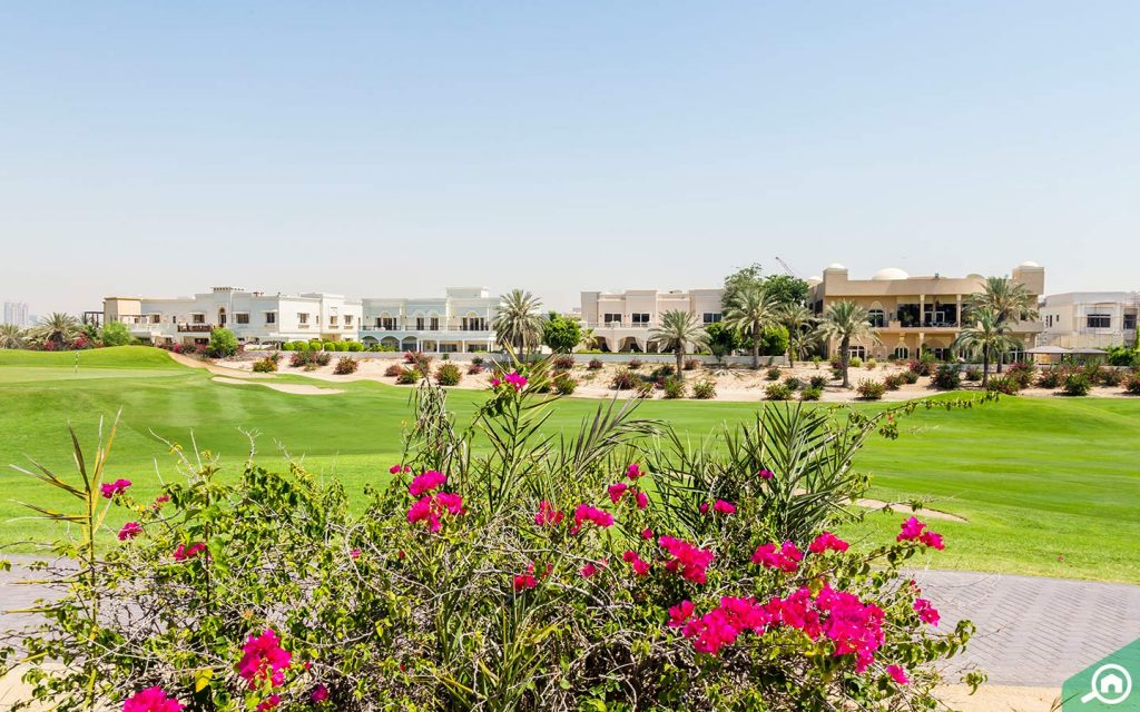 Emirates Hills, one of the most popular residential developments in Dubai.