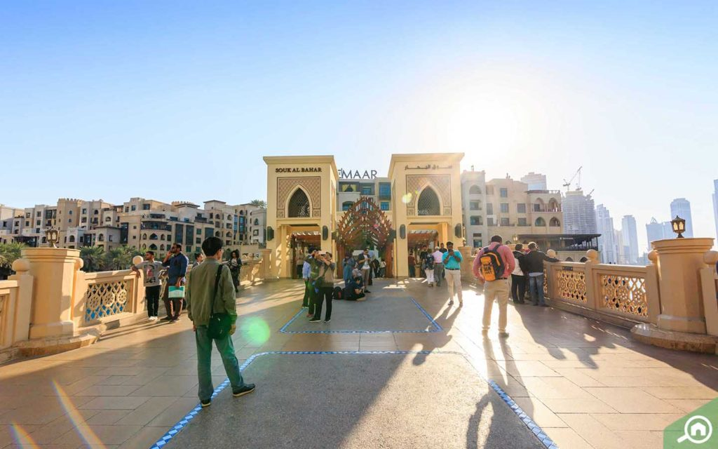The Dubai Mall entrance