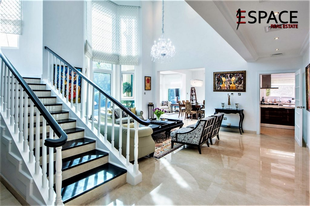 Grand staircase of Spanish Garden villa for sale on Bayut.com