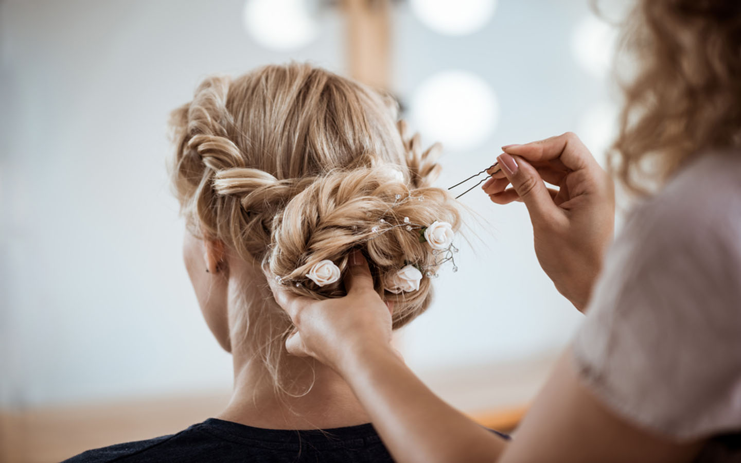fancy hairstyling