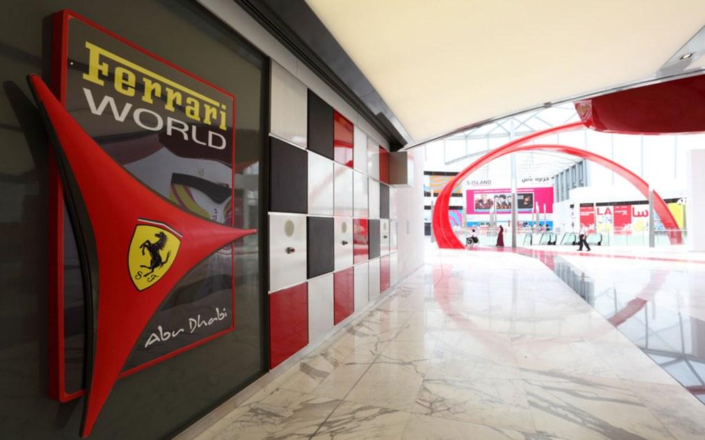 Ferrari World Abu Dhabi entrance