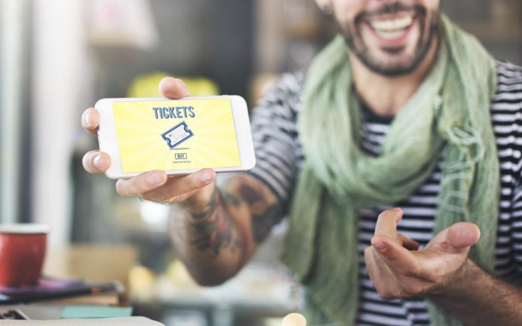 Online tickets concept