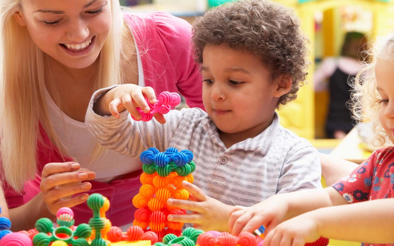 Kid having a good time at a nursery in Dubai
