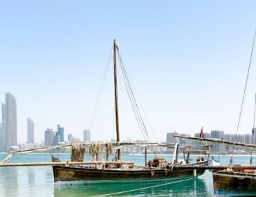 Fishing boats at the sea in Abu Dhabi