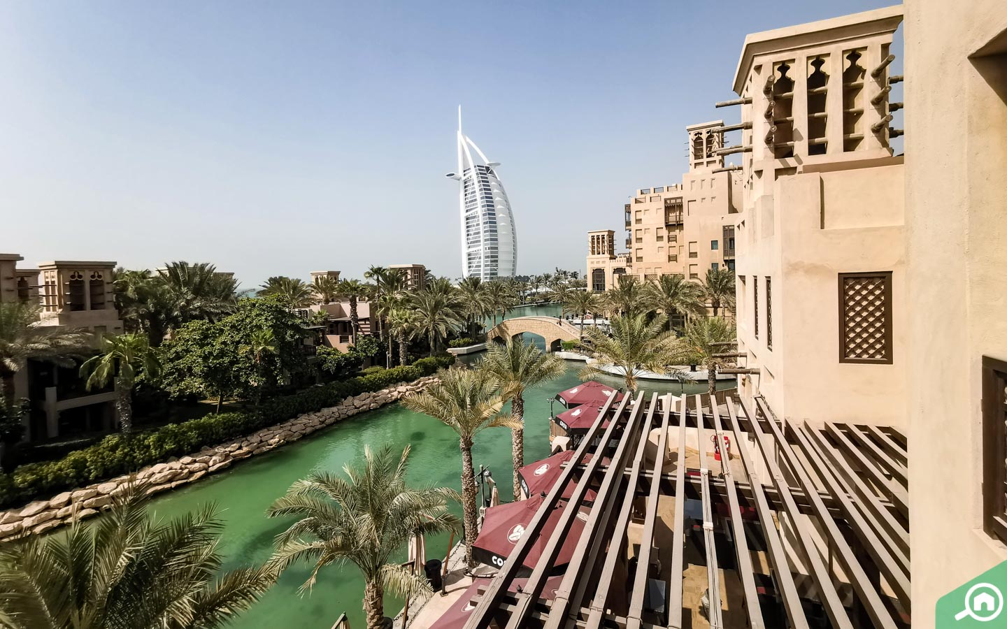 View of Burj Al Arab from Folly by Nick and Scott