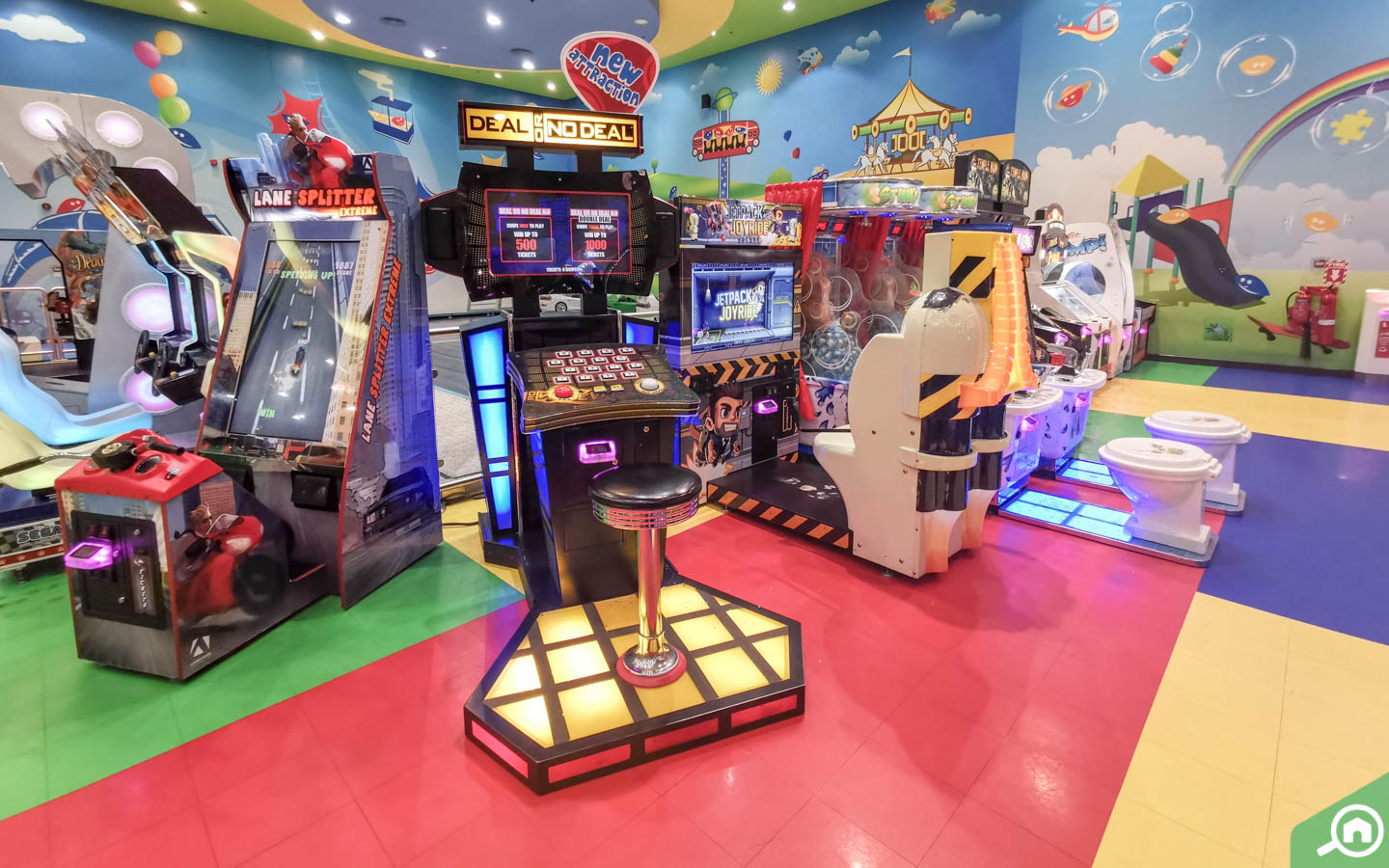 arcade games at Fun City