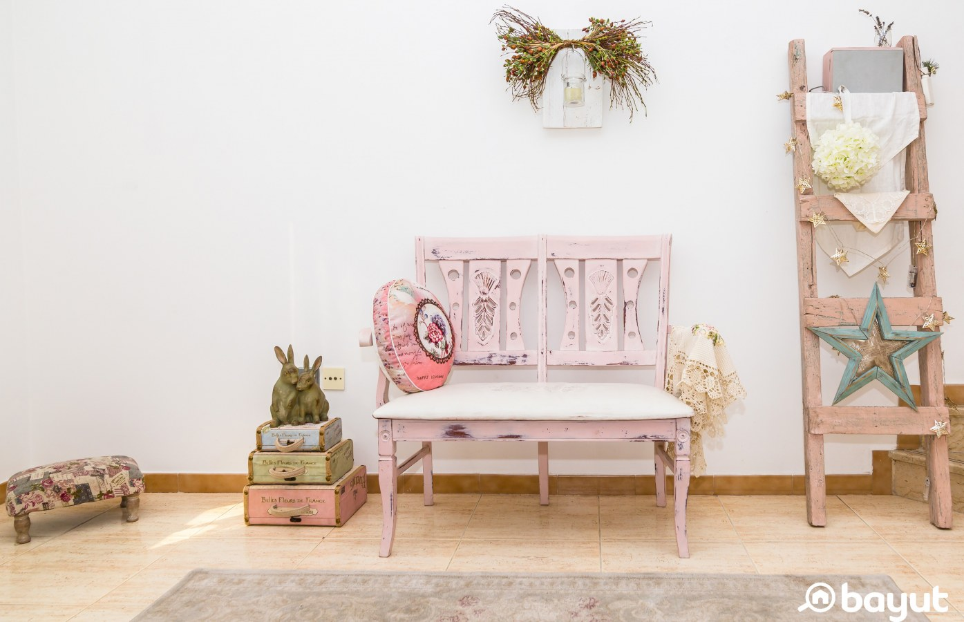An upcycled bench
