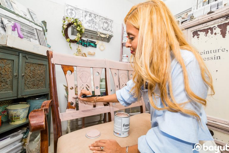 Upcycling furniture in dubai with non-toxic paint
