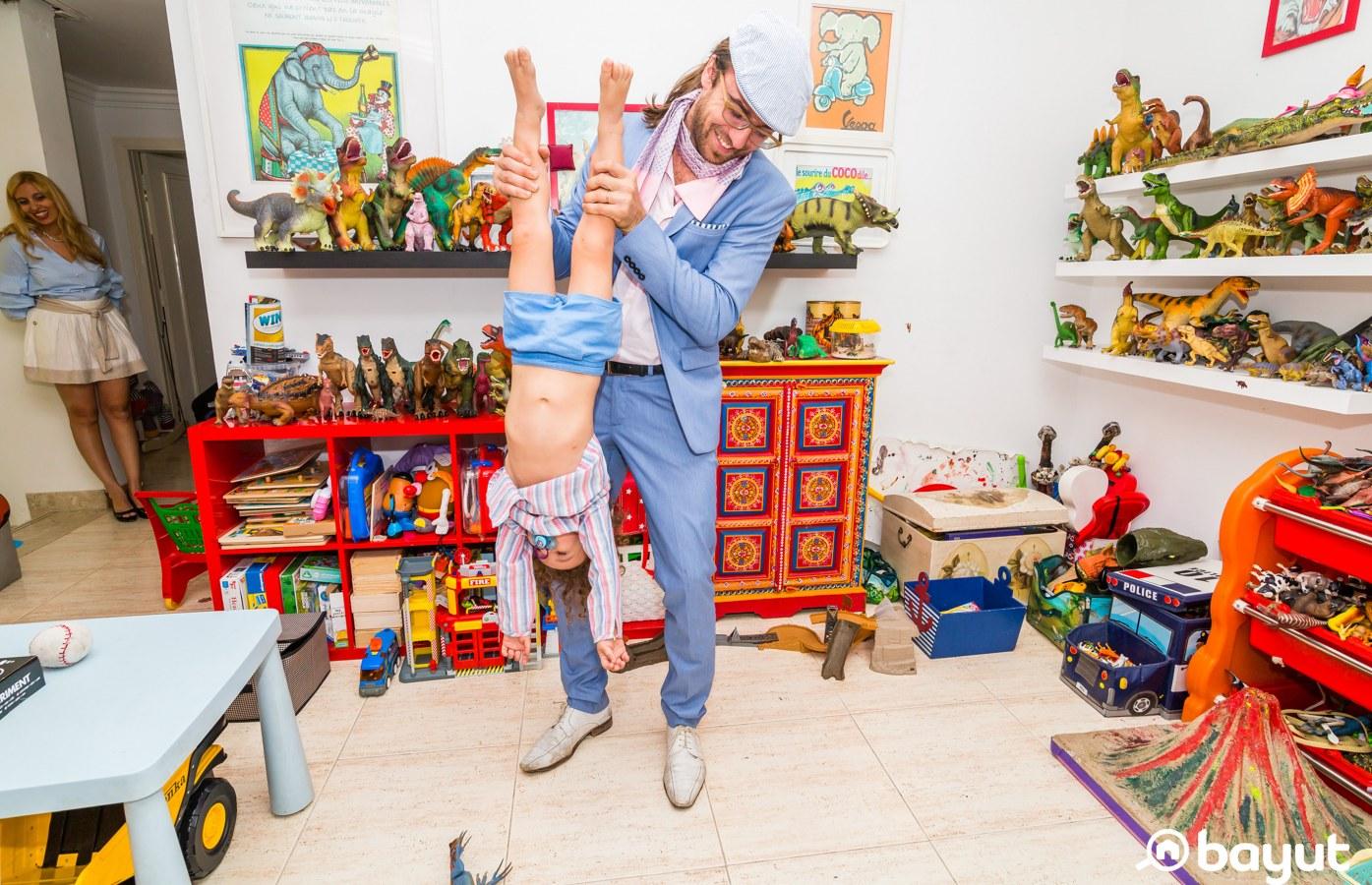 messing around in children's play areas in dubai