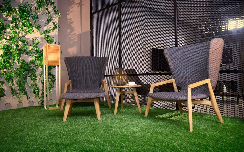 furniture on artificial grass