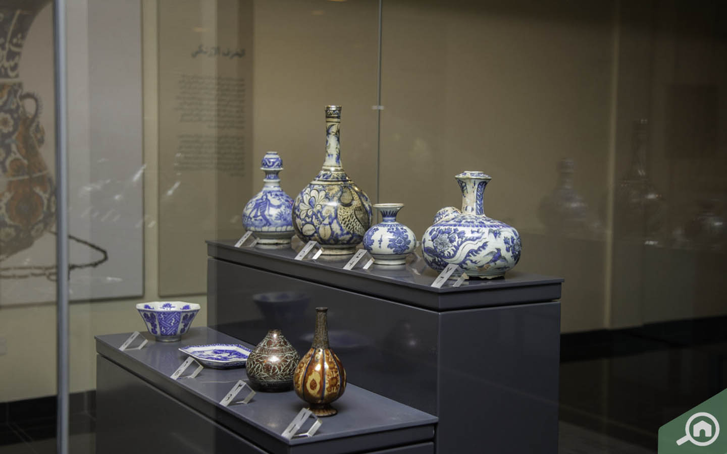Display of ceramic art at the Gallery 3 of the museum