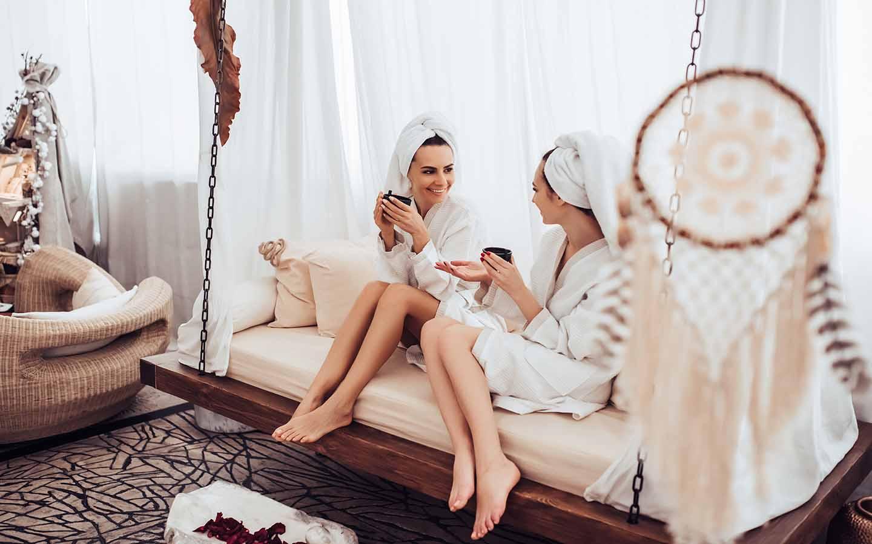 women enjoying at the spa