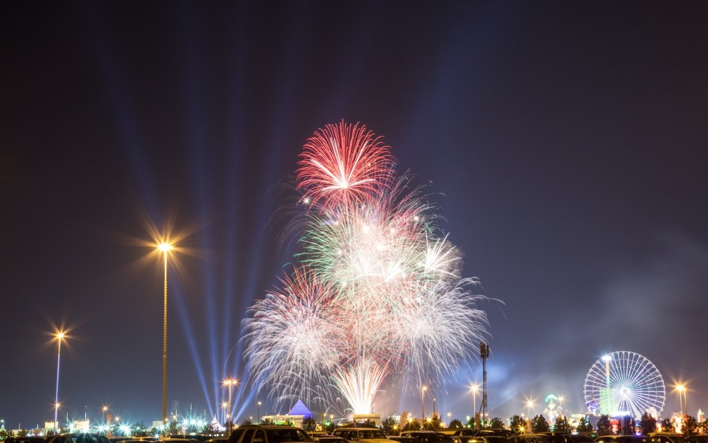 Fireworks in Global Village